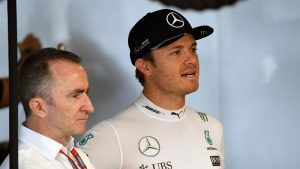 Paddy Lowe (GBR) Mercedes AMG F1 Executive Director (Technical) and Nico Rosberg (GER) Mercedes AMG F1 at Formula One World Championship, Rd17, Japanese Grand Prix, Qualifying, Suzuka, Japan, Saturday 8 October 2016. © Sutton Images