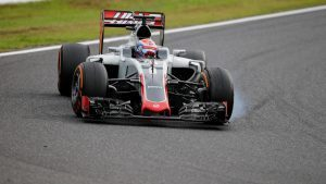 Romain Grosjean (FRA) Haas VF-16 at Formula One World Championship, Rd17, Japanese Grand Prix, Race, Suzuka, Japan, Sunday 9 October 2016. © Sutton Images