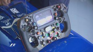 Sauber C35 steering wheel at Formula One World Championship, Rd17, Japanese Grand Prix, Suzuka, Japan, October 2016. © Sauber F1 Team