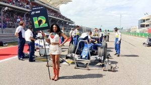 Grid girl at Formula One World Championship, Rd18, United States Grand Prix, Race, Circuit of the Americas, Austin, Texas, USA, Sunday 23 October 2016. © Sauber F1 Team