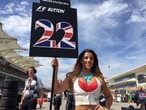 Grid girl at Formula One World Championship, Rd18, United States Grand Prix, Race, Circuit of the Americas, Austin, Texas, USA, Sunday 23 October 2016. © McLaren Honda
