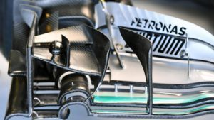 Mercedes-Benz F1 W07 Hybrid front wing detail at Formula One World Championship, Rd21, Abu Dhabi Grand Prix, Practice, Yas Marina Circuit, Abu Dhabi, UAE, Friday 25 November 2016. © Sutton Images