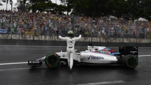 Felipe Massa (BRA) Williams FW38 crashed out of the race at Formula One World Championship, Rd20, Brazilian Grand Prix, Race, Interlagos, Sao Paulo, Brazil, Sunday 13 November 2016. © Sutton Images