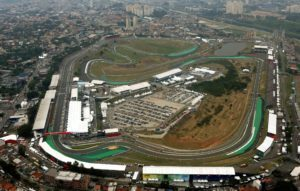 Aerial view of Autódromo José Carlos Pace at Formula One World Championship, Rd20, Brazilian Grand Prix, Interlagos, Sao Paulo, Brazil, November 2016.