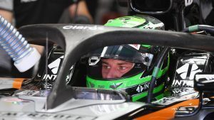 Nico Hulkenberg (GER) Force India VJM09 with halo at Formula One World Championship, Rd20, Brazilian Grand Prix, Practice, Interlagos, Sao Paulo, Brazil, Friday 11 November 2016. © Sutton Images