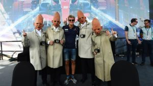 Marcus Ericsson (SWE) Sauber and coneheads at the autograph session at Formula One World Championship, Rd21, Abu Dhabi Grand Prix, Race, Yas Marina Circuit, Abu Dhabi, UAE, Sunday 27 November 2016. © Sutton Images