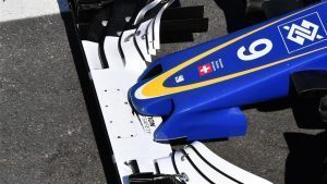 Sauber C35 nose and front wing at Formula One World Championship, Rd20, Brazilian Grand Prix, Preparations, Interlagos, Sao Paulo, Brazil, Thursday 10 November 2016. © Sutton Images