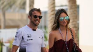 Jenson Button (GBR) McLaren with his girlfriend Brittny Ward (USA) at Formula One World Championship, Rd21, Abu Dhabi Grand Prix, Practice, Yas Marina Circuit, Abu Dhabi, UAE, Friday 25 November 2016. © Sutton Images