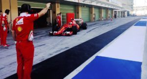 pic-8 / NINETH TEST WITH SCUDERIA FERRARI: Sebastian Vettel tests pirelli 2017 wider tyres at Yas Marina Circuit, Yas Island, Abu Dhabi, United Arab Emirates, THE WIDER TYRES FOR 2017 SEASON