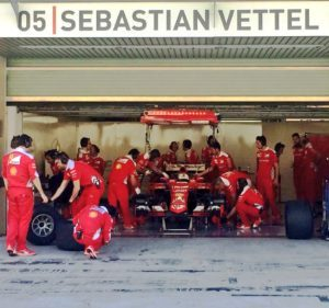 pic-10 / NINETH TEST WITH SCUDERIA FERRARI: Sebastian Vettel tests pirelli 2017 wider tyres at Yas Marina Circuit, Yas Island, Abu Dhabi, United Arab Emirates, THE WIDER TYRES FOR 2017 SEASON