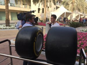 Today's top tyre commentator: @svandoorne talking @RTBF through the range of 2017 #Fit4F1 rubber @McLarenF1 © 2016 Pirreli & C. S.p.A.