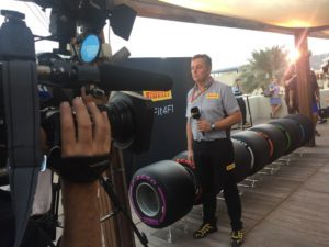 Mario_Isola explains more about the #Fit4F1 tyres to @RaiSport @ymcofficial © 2016 Pirreli & C. S.p.A.