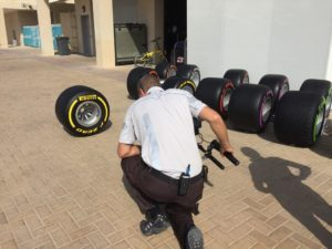 Tyres on film. Our 2017 #Fit4F1 tyres prepare for their close-up #AbuDhabiGP © 2016 Pirreli & C. S.p.A.