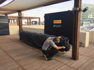 What's under the cover? One hour to go before we reveal the full range of #fit4f1 2017 tyres at #AbuDhabiGP © 2016 Pirreli & C. S.p.A.