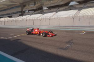 pic-5 / NINETH TEST WITH SCUDERIA FERRARI: Sebastian Vettel tests pirelli 2017 wider tyres at Yas Marina Circuit, Yas Island, Abu Dhabi, United Arab Emirates, THE WIDER TYRES FOR 2017 SEASON