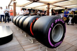 Does my chassis look big in this? @pirellisport unveils the 2017 tyres which it says are 25% wider than the current crop © Channel 4 F1