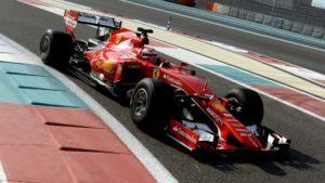 Kimi Raikkonen, Ferrari, during Pirelli 2017 tyre testing in Abu Dhabi © Foto Studio Colombo