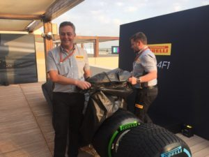 Paul Hembery and Mario Isola take the wraps off the 2017 #Fit4F1 tyres at #AbuDhabiGP @ymcofficial #F1 © 2016 Pirreli & C. S.p.A.