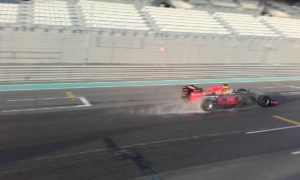 pic-4 / EIGHTH TEST WITH RED BULL RACING: Pierre Gasly tests pirelli 2017 wider wet tyres at Yas Marina Circuit, Yas Island, Abu Dhabi, United Arab Emirates, THE WIDER TYRES FOR 2017 SEASON