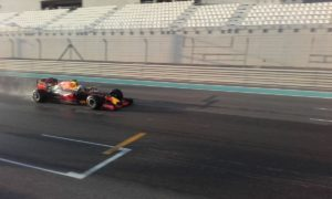 pic-5 / EIGHTH TEST WITH RED BULL RACING: Pierre Gasly tests pirelli 2017 wider wet tyres at Yas Marina Circuit, Yas Island, Abu Dhabi, United Arab Emirates, THE WIDER TYRES FOR 2017 SEASON